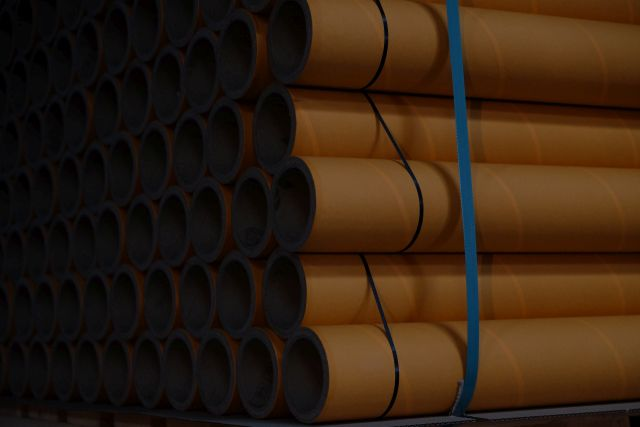 Sonoco Alcore paper cores marked with RFID for automated vendor-managed inventory (VMI)