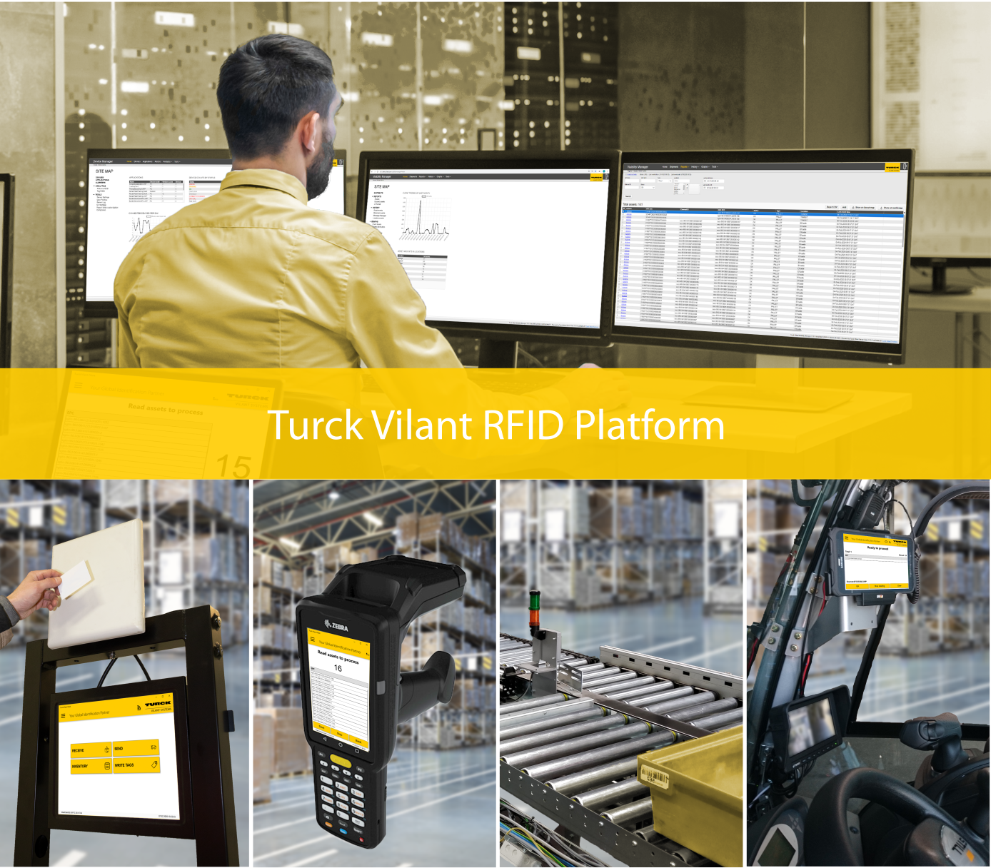 RFID for forklifts, gates, conveyor belts and more